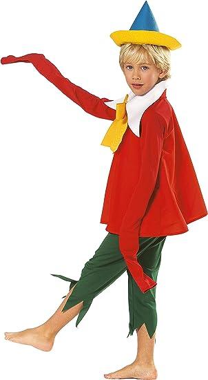 Joker H670 – 002 – Pinocho disfraz de carnaval de sobre, Rojo y ...