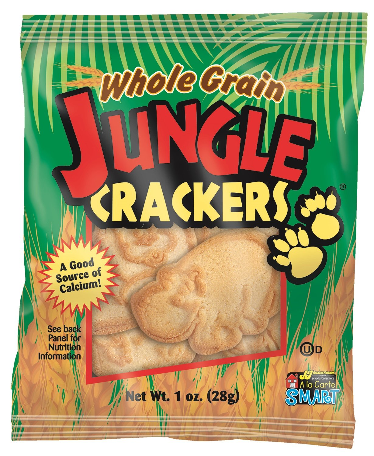 Readi-Bake BeneFIT 51% Whole Grain Pre-Packaged Jungle Crackers, 1 Ounce (Pack of 200)