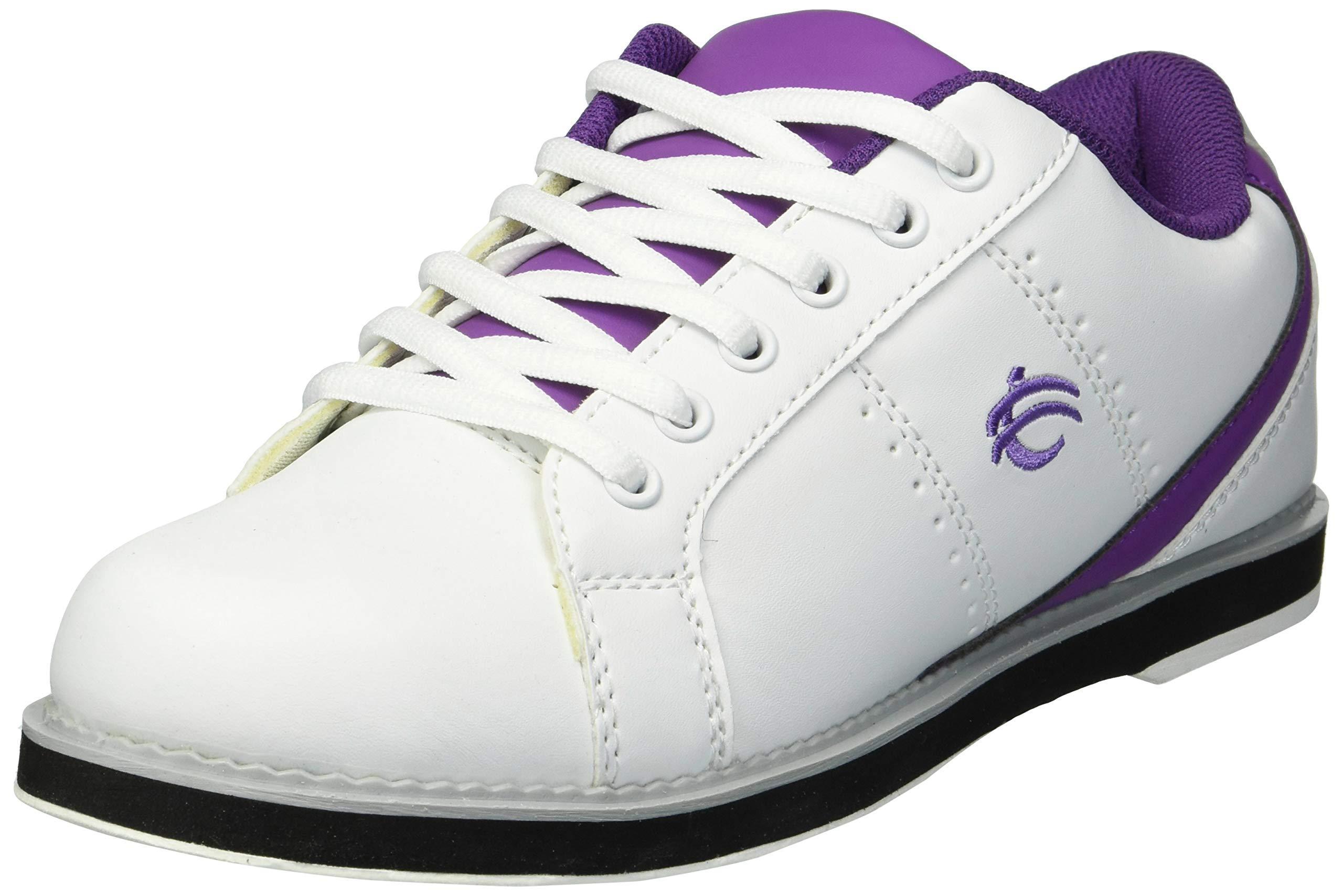 BSI Women's 460 Bowling Shoe, White/Purple, Size 8 by BSI