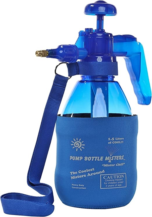 PB Misters Mister Chill Jr Personal Pump Mister with Pressure Relief Handle and Neoprene Sleeve