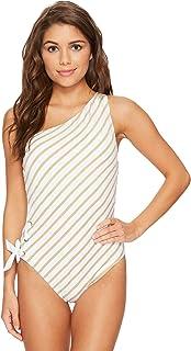 17615fc59e767 Lauren Ralph Lauren City Stripe One Shoulder One Piece Swimsuit ...