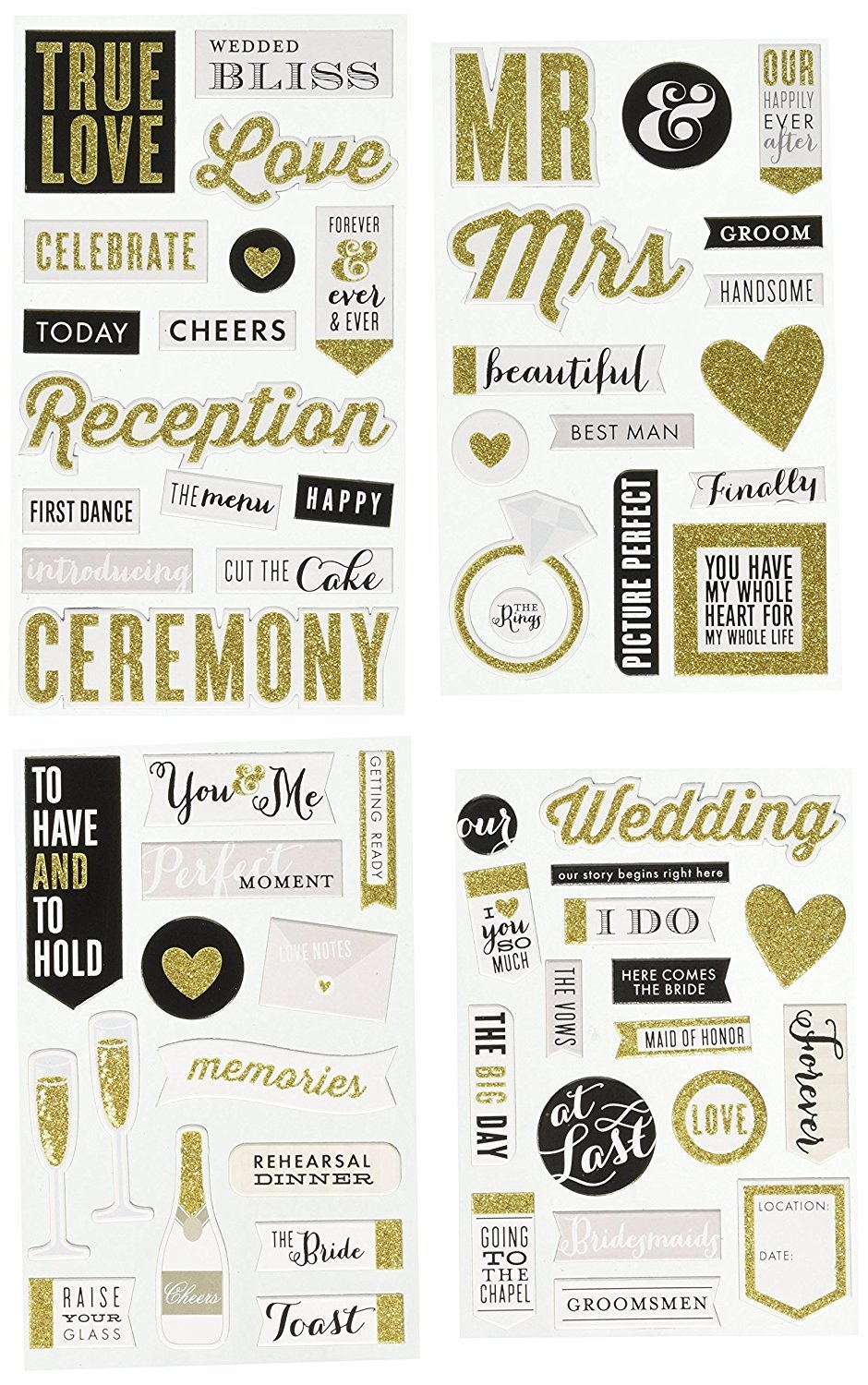 Me & My Big Ideas Chipboard Value Pack-Our Wedding CBVX45