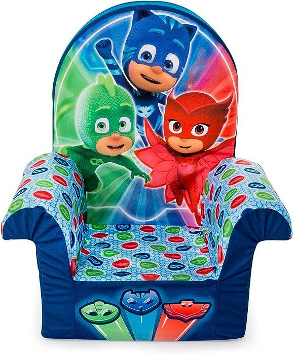 Marshmallow Furniture, Children's Foam High Back Chair, PJ Masks High Back Chair