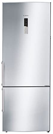 Bosch 505 L 2 Star Frost Free Double Door Refrigerator(KGN57AI40I, Silver, Inverter Compressor, Bottom Freezer)