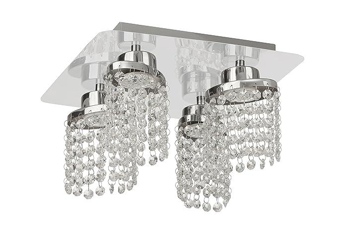 Moderne Lampen 5 : Briloner leuchten led ceiling light with crystal decor chrome