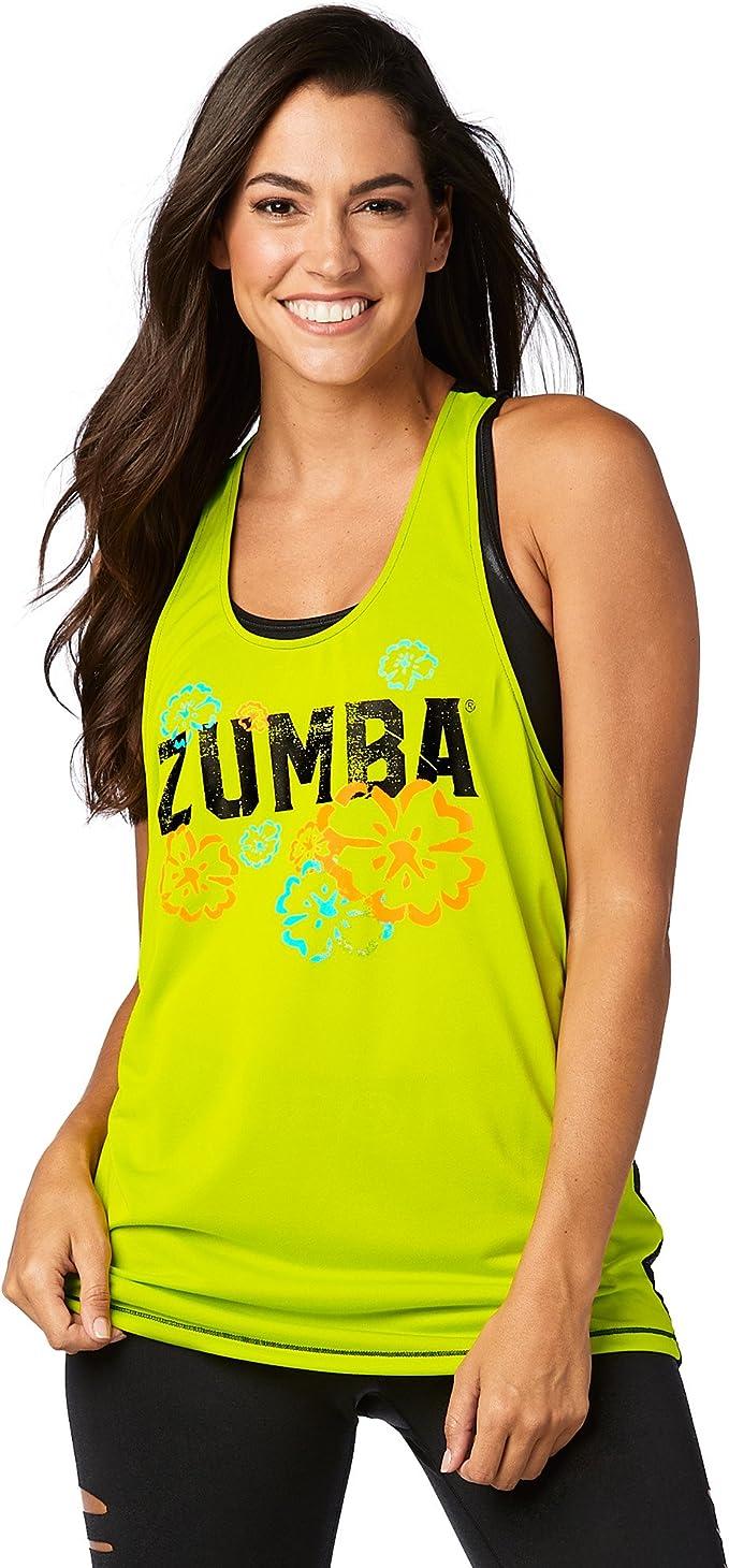 Zumba Fitness Damen Strong by Zumba Racerback Frauentops XS Bold Black