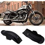 Iglobalbuy Custom Motorcycle Black Rear Fender Garde-boue pour Harley Davidson Sportster Bobber Chopper Cafe Racer