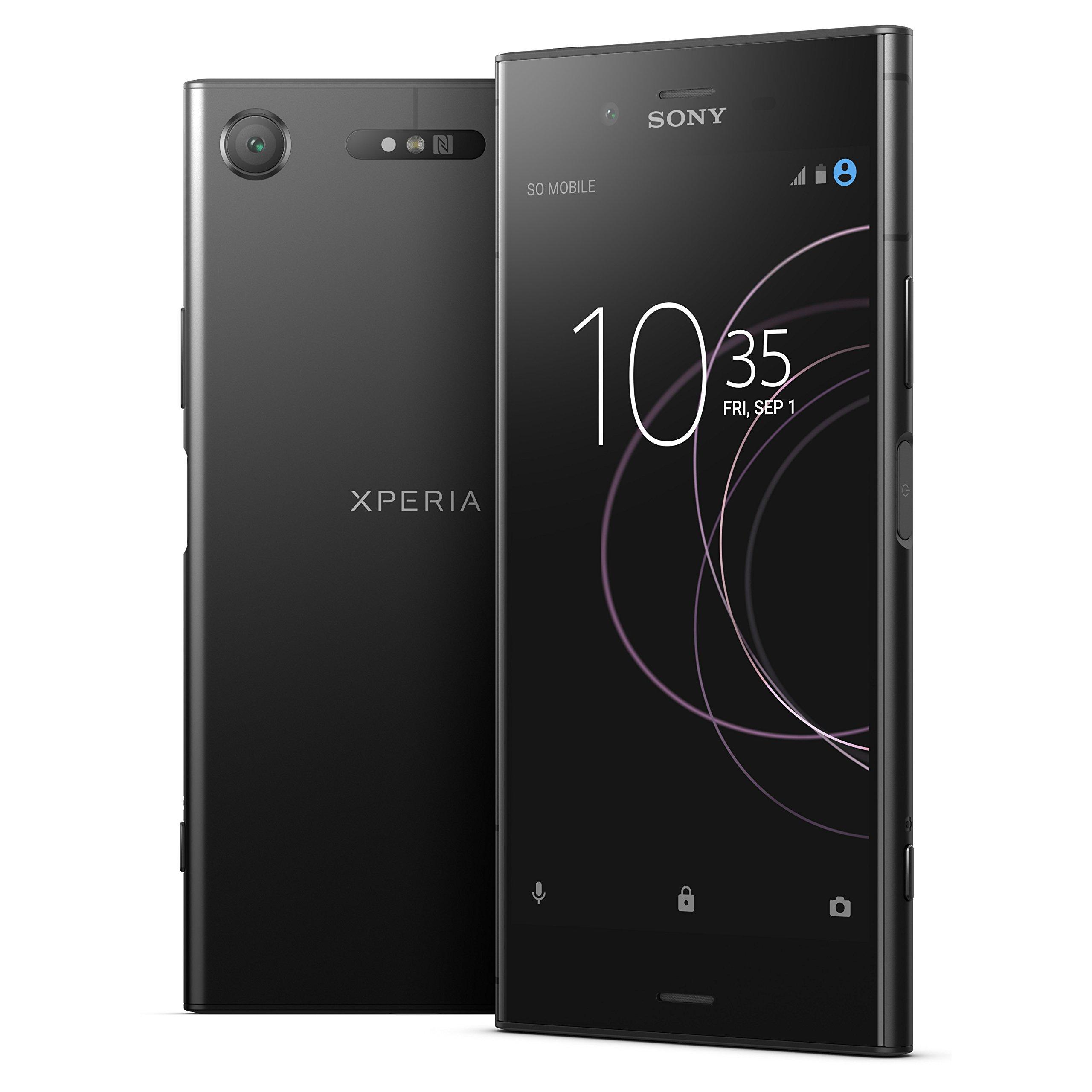Sony Xperia XZ1 G8342 64GB Black, Dual Sim, 5.2in, GSM Unlocked International Model, No Warranty (Renewed)