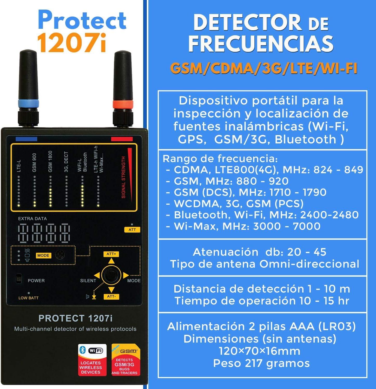 Detector De Radio Frecuencias GSM, WIFI LTE, 3G, 4G | 1207i ...