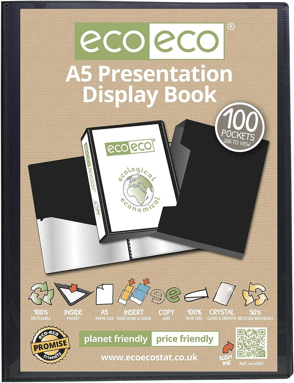 eco-eco Pr/äsentationsmappe recycelt 10 Taschen a2 A2