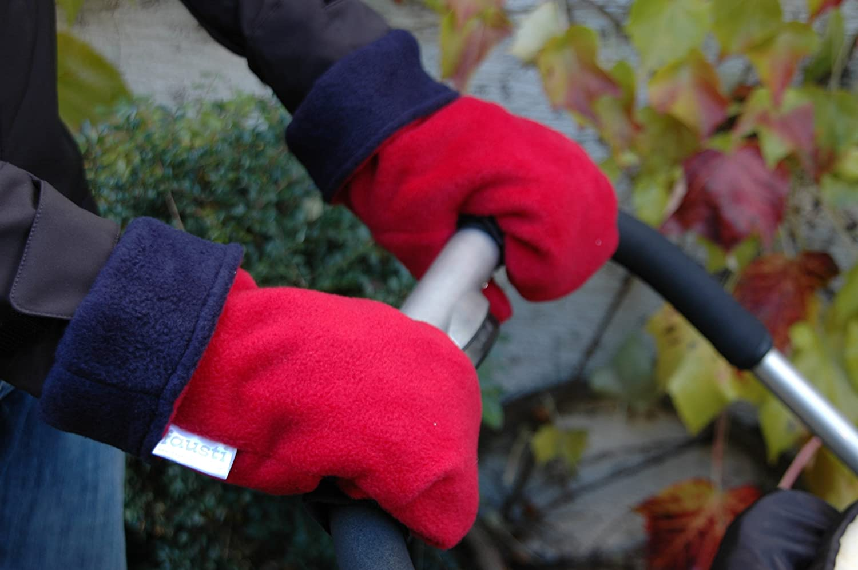 Genial! Fausti der Kinderwagen Handschuh = nie wieder kalte Hä nde beim Spaziergang mit dem Baby! Modell 'roter Husar' passt an jeden Kinderwagen / Buggy - Kinderwagenmuff Fausti Stuttgart