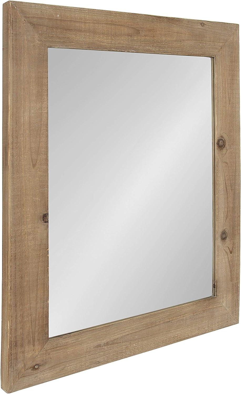 36 x 30 Kate and Laurel Garvey Wood Framed Wall Mirror Rustic Brown