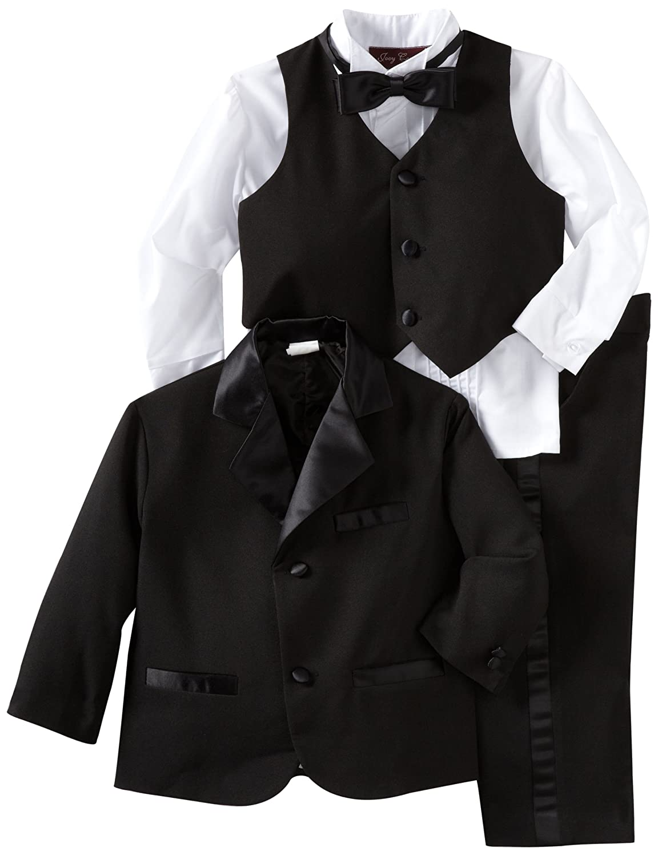 Amazon.com: Gino Giovanni Black Usher Toddler Boy Tuxedo Size 3 ...