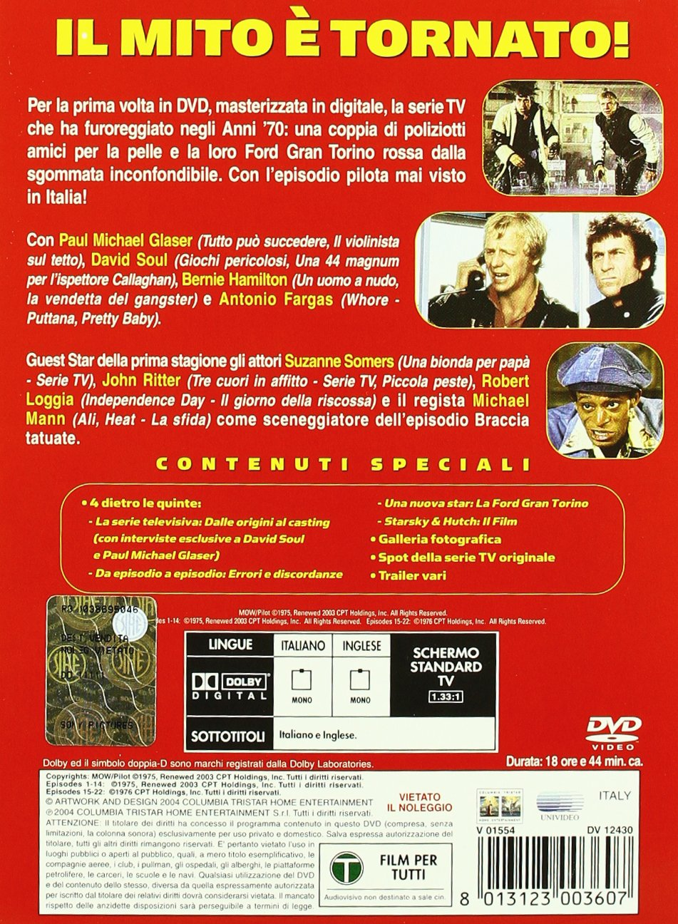 Amazon.com: Starsky & Hutch - Stagione 01 (5 Dvd) [Italian Edition]: antonio fargas, david solu, barry shear: Movies & TV