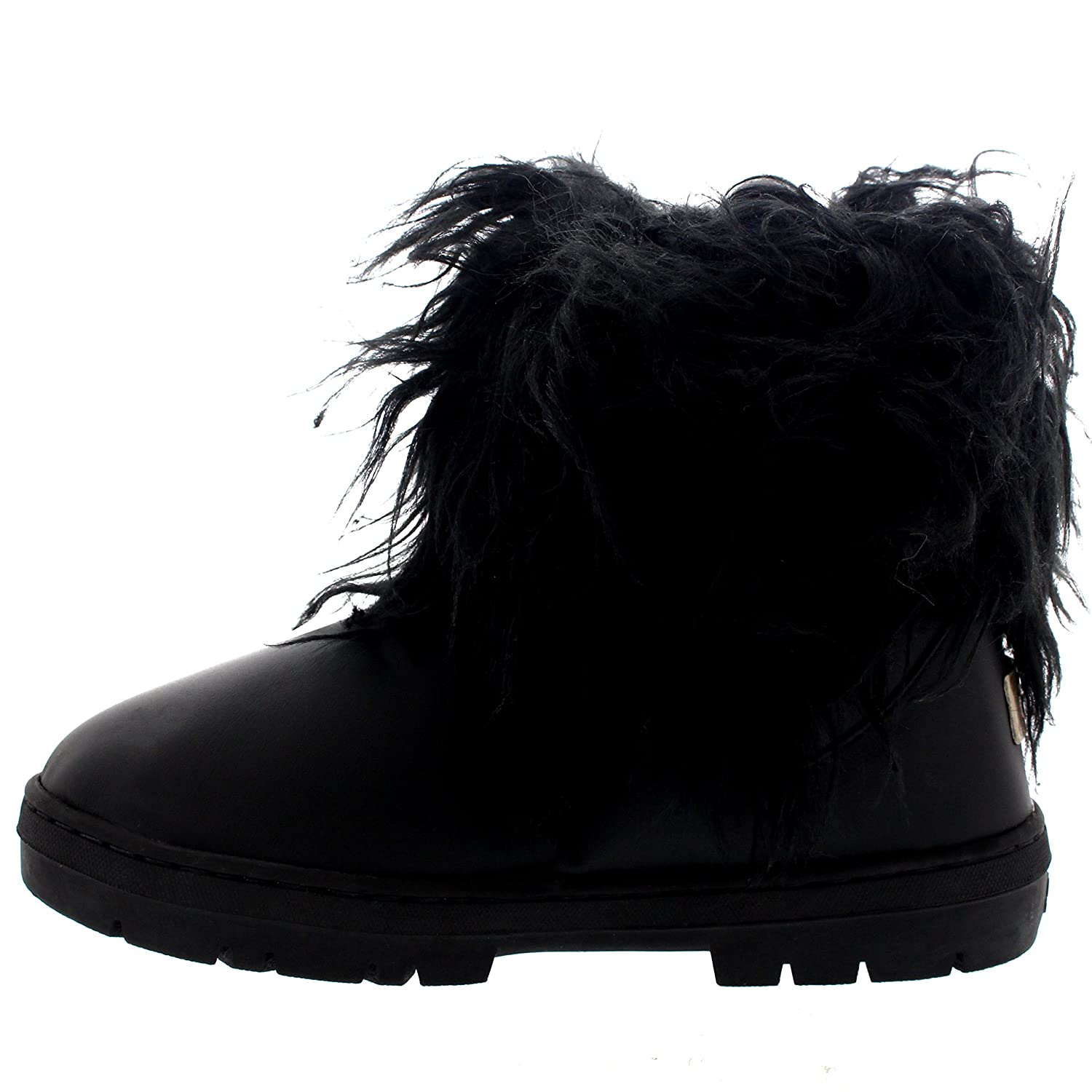 Womens Short Eskimo Winter Waterproof Hard Sole Mid B(M) Calf Boots B01FKMHHBC 7 B(M) Mid US|Black Leather a8fc85