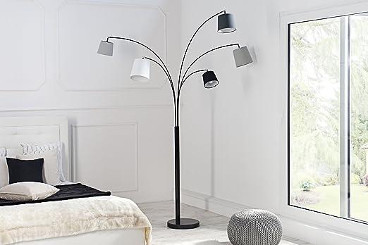 Moderne lampe designer stehleuchte 200cm verstellbar gebogen metall