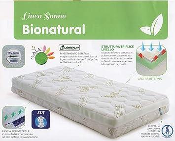 MAXIOCCASIONI colchón de Cuna, bionatural lenpur, 60 x 125 x 12 cm: Amazon.es: Hogar