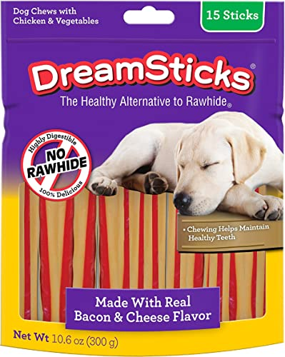 DreamBone DreamSticks With Real Bacon And Cheese 15 Count, Rawhide-Free Chews For Dogs, Model DBBAC-02879