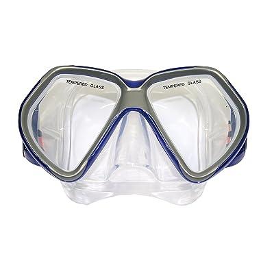 Tunturi 14TUSSW062 Masque de Plongée Mixte Adulte, Bleu, Taille Unique