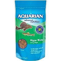AQUARIAN Complete Nutrition, Aquarium Algae Eater Fish Food Sinking Algae Wafers, 255g Bag