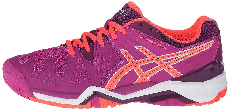 ASICS Gel Resolution 6 WIDE Women's Tennis Shoe White/Silver - WIDE version B00XYCOC6Y 6 B(M) US|Berry/Flash Coral/Plum