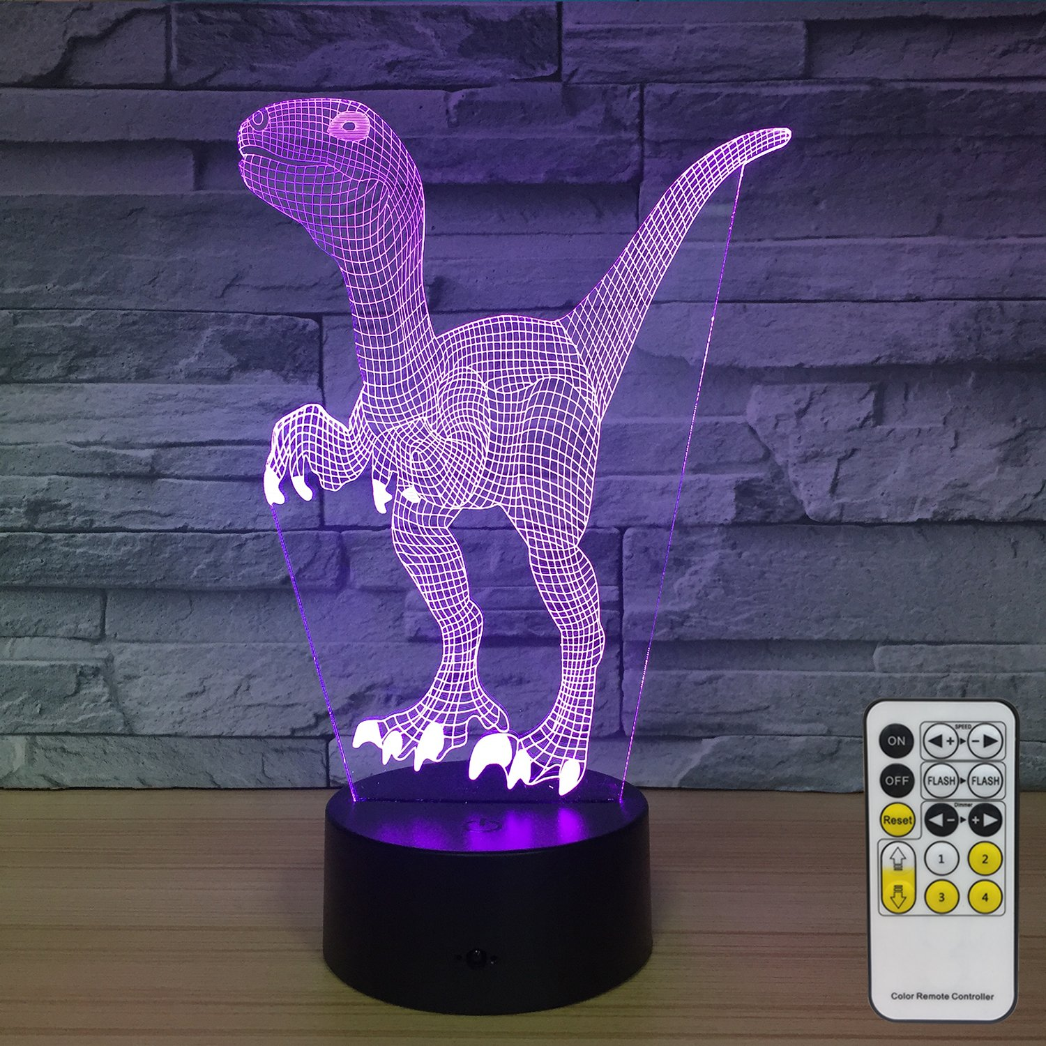 NINE SQUARE EGOU Night Lights for Kids Dinosaur Decorations 7 Colors Change with Remote Baby Night Light Beside Lamp Kids Lamp Children's Night Lights As a Gift Idea for Girls and Boys
