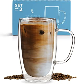 Coffee Or Tea Glass Mugs Set Of 215oz Double Wall Thermo Insulated Cups With