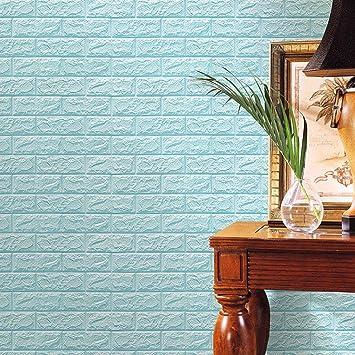 Hunpta – Papel pintado en 3D de espuma de polietileno, pegatinas de pared para bricolaje, decoración de pared con relieve de ladrillo de piedra, ...