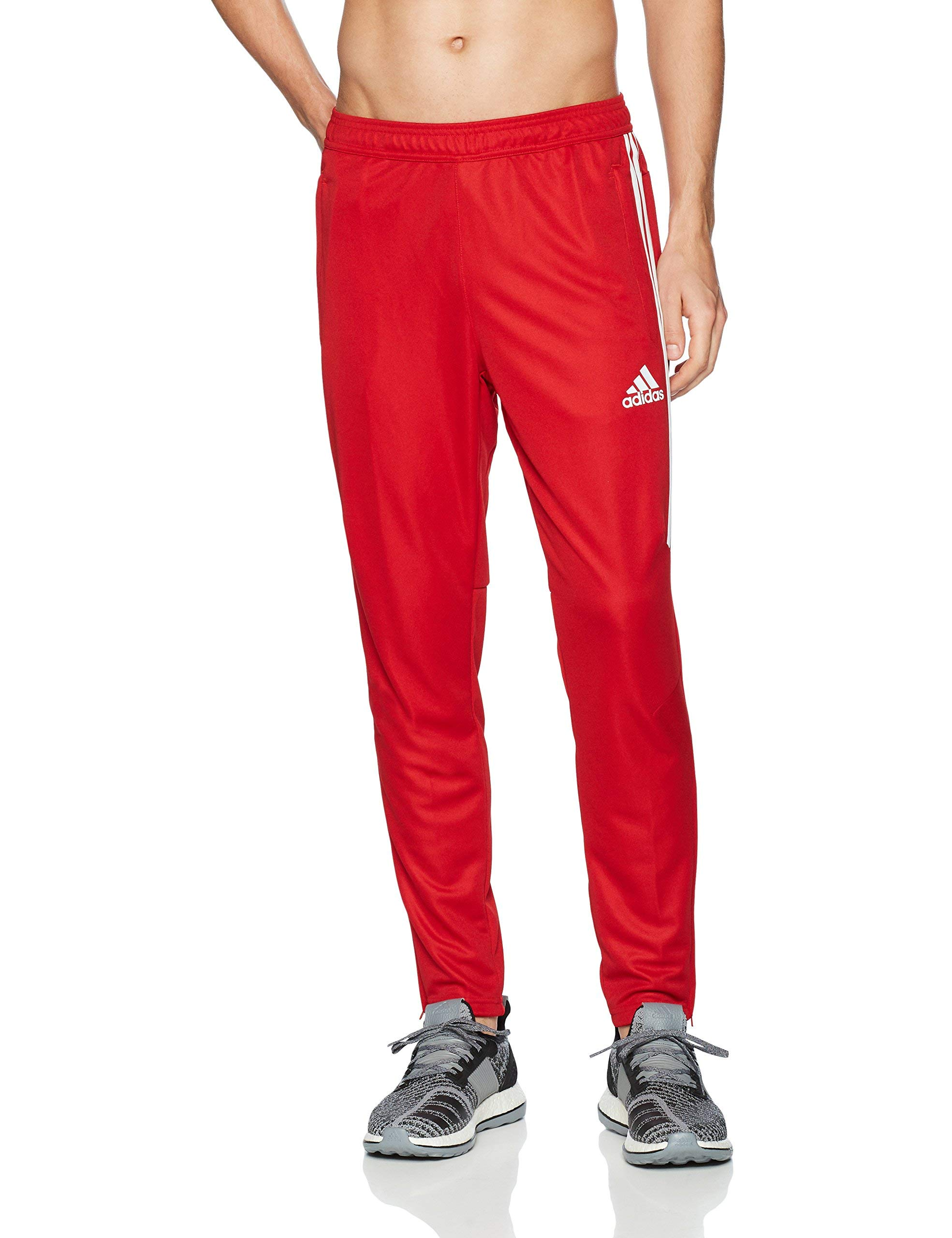 adidas Men's Soccer Tiro 17 Pants, Small, Power Red/White