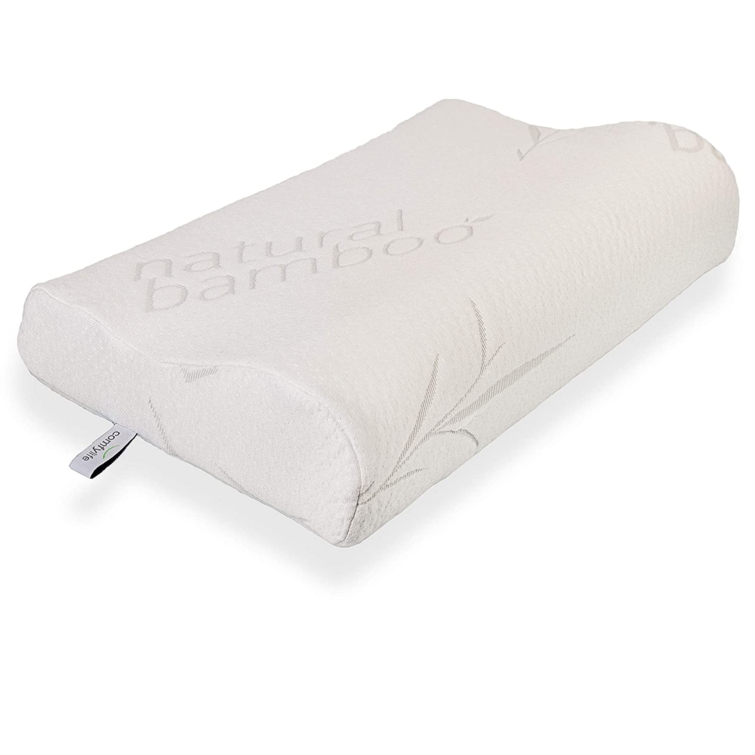 ComfyLife Hypoallergenic Bamboo Memory Foam Contour Pillow (Budget Pick)
