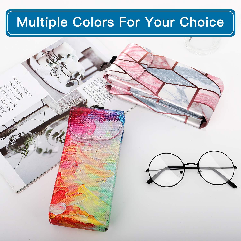 MoKo Borsa per Occhiali 2 in 1 Portatile Case Doppia Tasche in PU Pelle per Occhiali da Sole Custodia Protettiva con Clip da Cintura per Uomo e Donna Occhiali da Vista