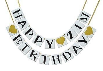 Amazon Happy 21st Birthday Banner