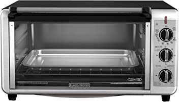 BLACK+DECKER 8-Slice Extra-Wide Toaster Oven, 13x9-Inch, Stainless Steel, TO3260XSBD