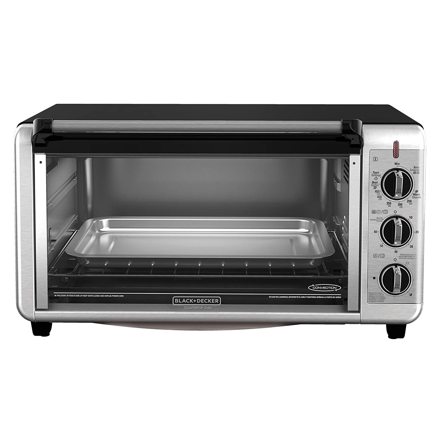Black+Decker TO3260XSBD Digital Extra-Wide Convection Oven, Stainless Steel by: Amazon.es