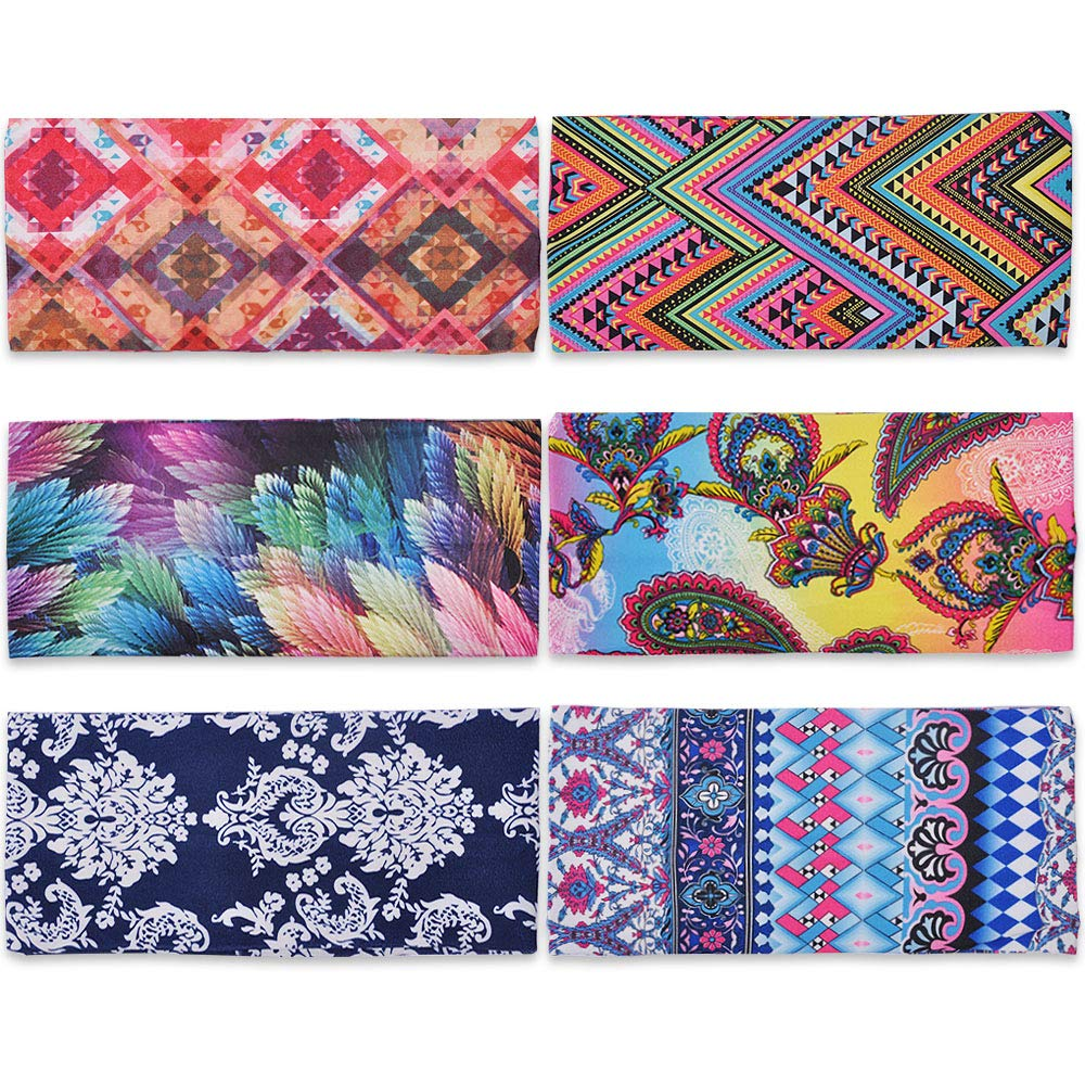 Amazon.com  Lady Up 6 Pcs Colorful Headbands Mixed Style Criss Cross Head  Wrap Vintage Boho Fashion Yoga Hair Bands  Beauty 164394500e4