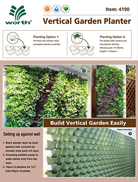 Amazon.com: Worth Self Watering Vertical Garden Planter: Patio, Lawn U0026  Garden