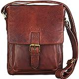 1fb70221b3c5bb STILORD 'Arne' Leder Messenger Bag klein Umhängetasche 8,4 Zoll Tablet  Hülle Schultertasche