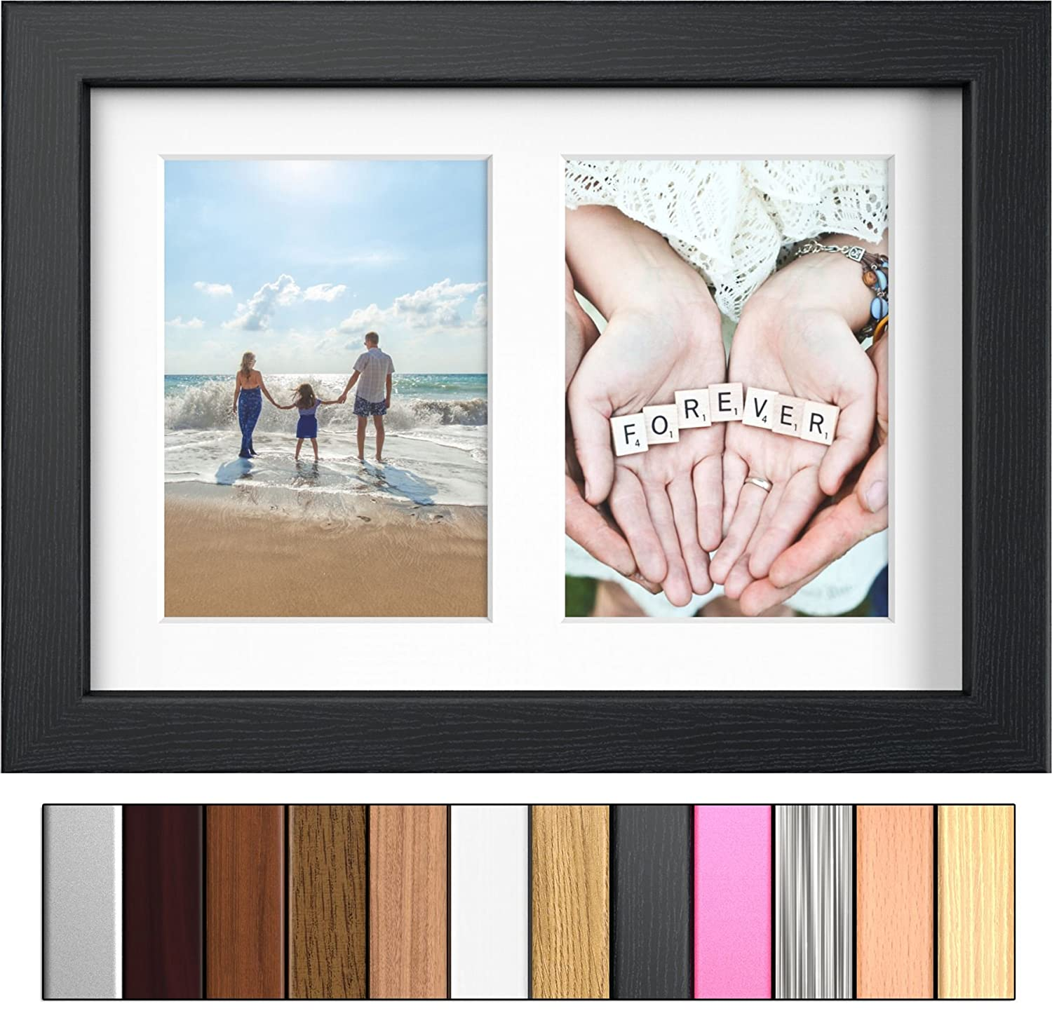BEECH MODERN PHOTO PICTURE POSTER FRAME FOR 2 IMAGES OF 7