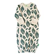 Parade Organics Kimono Gowns - Signature Prints Green Leaves 3-6 Months