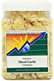 Mother Earth Products Dried Sliced Garlic, Quart Jar