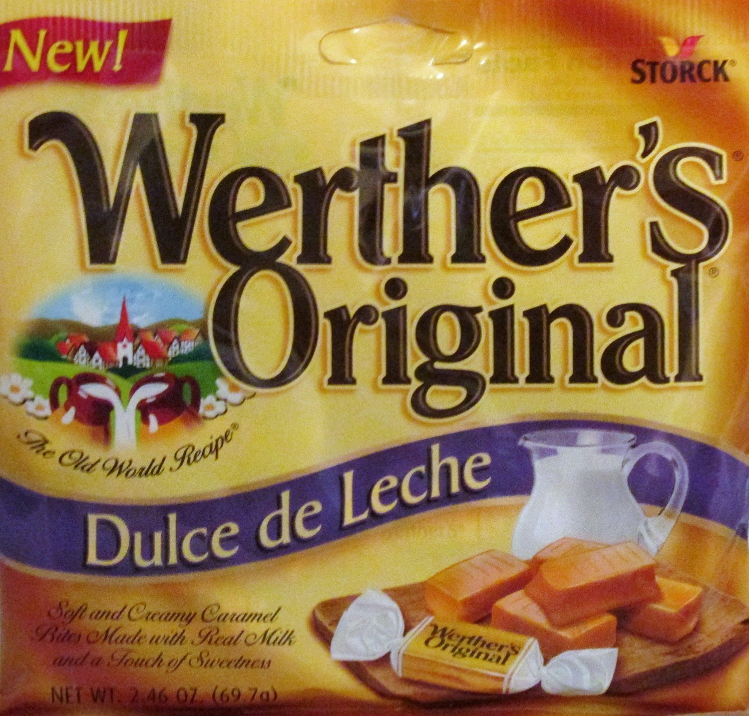 Amazon.com : Werthers Original Dulce de Leche Soft and Creamy Caramels 2.46 oz (Pack of 3) : Grocery & Gourmet Food