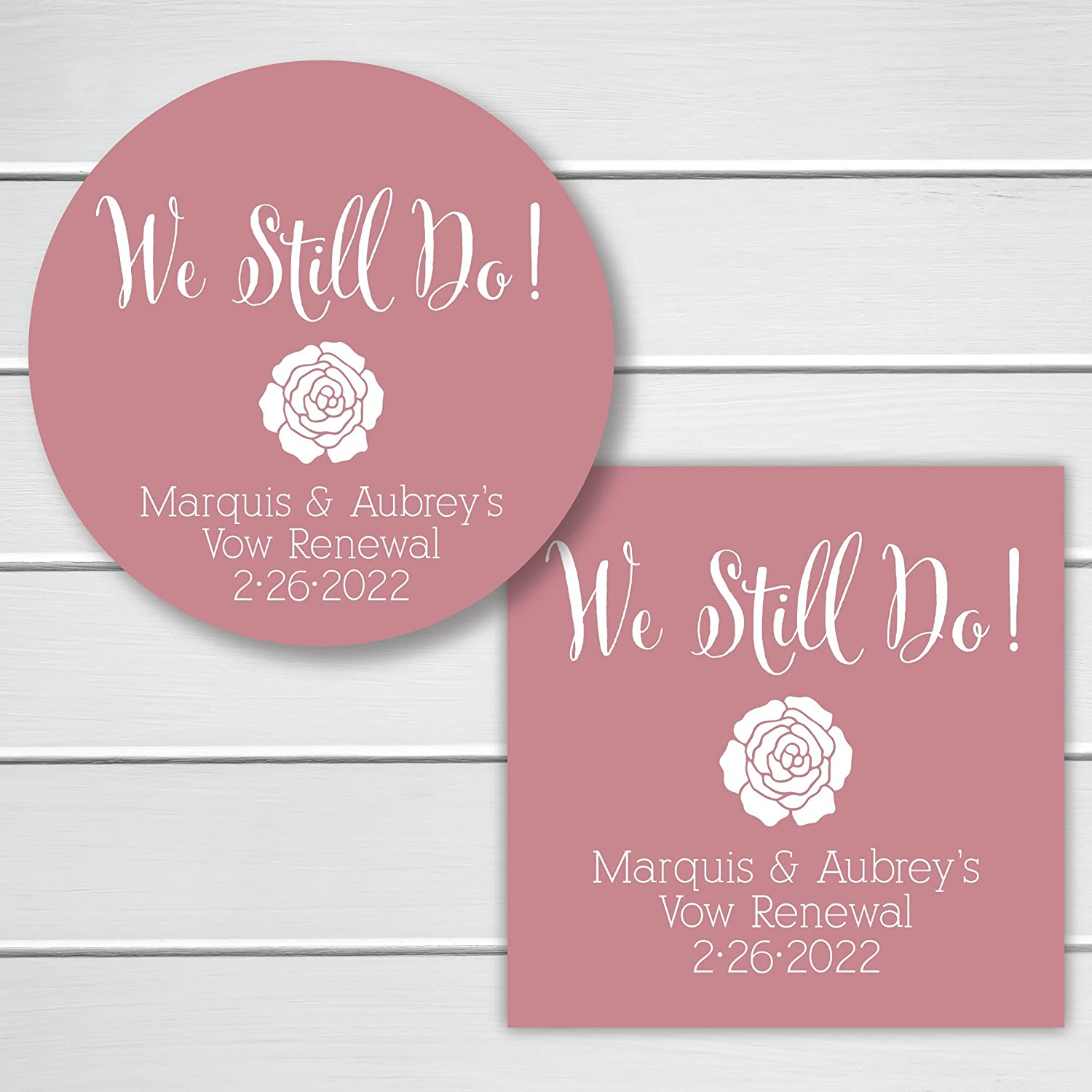 Amazon.com: We Still Do Anniversary/Vow Renewal Stickers (#144-2-SS ...