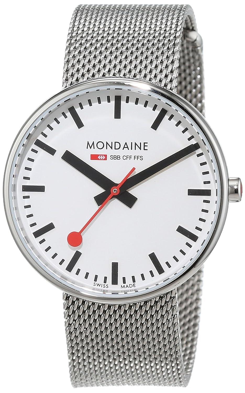 Mondaine SBB Mini Giant 35mm A763.30362.11SBM Reloj de pulsera Cuarzo Unisex correa de Acero inoxidable Plateado: Amazon.es: Relojes
