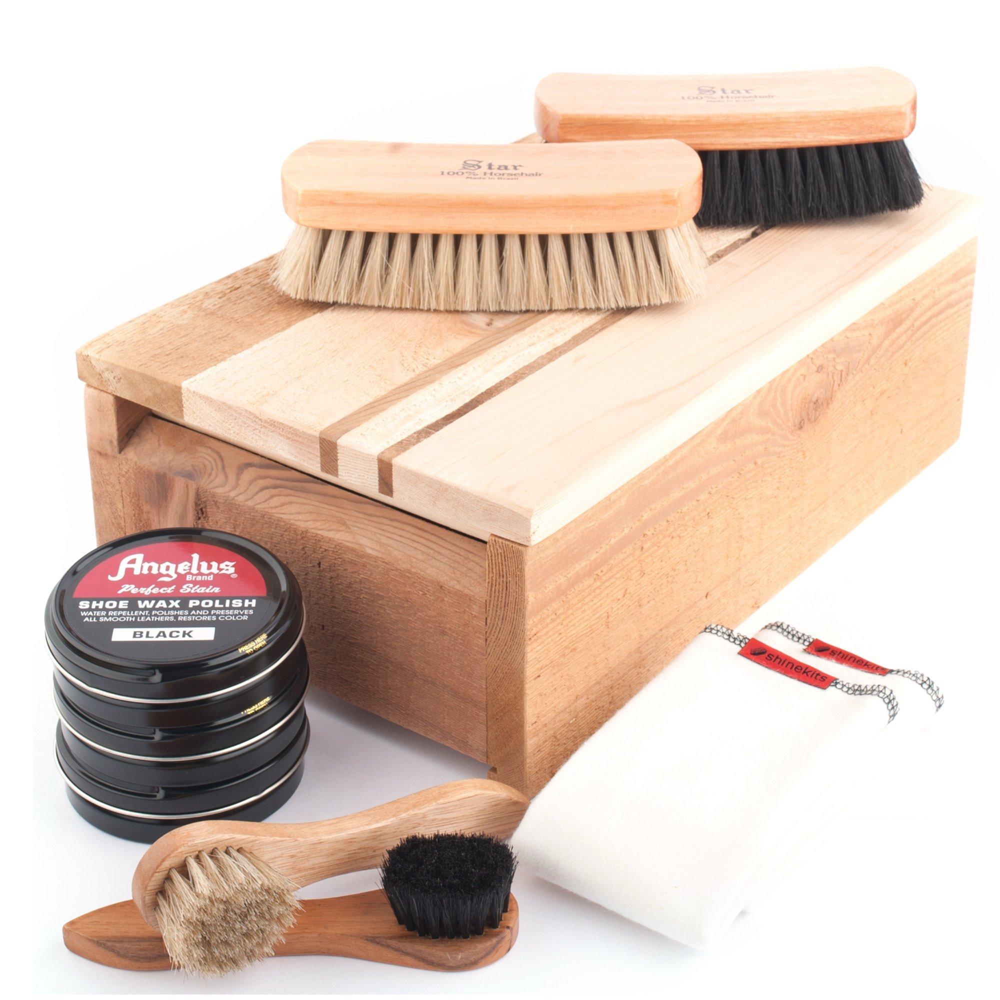 Shinekits Cedar Shoe Shine Kit