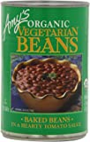 Amy's Organic Vegetarian Beans, Baked in a Hearty Tomato Sauce, 15 Ounce (Pack of 12)