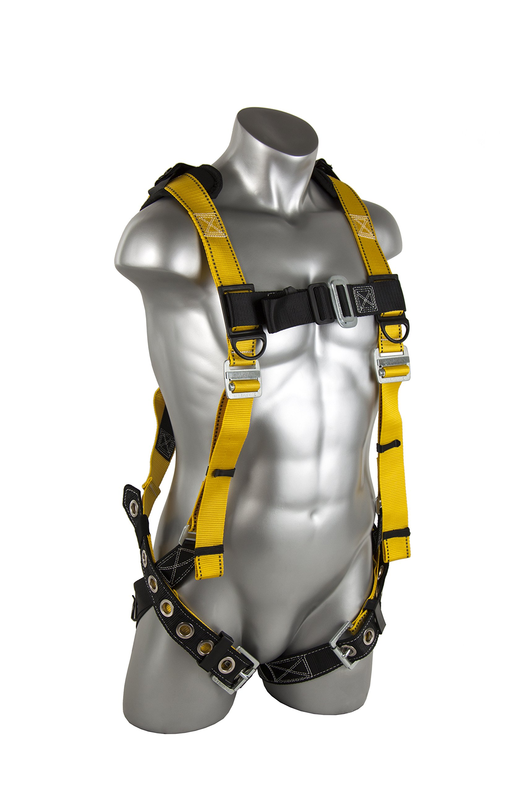Guardian Fall Protection 11166 XL-XXL Seraph Universal Harness with Leg Tongue Buckle Straps by Guardian Fall Protection