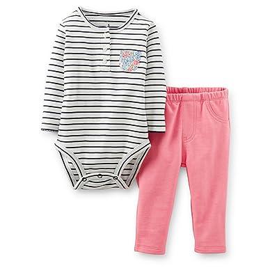 dbc356840a10f Amazon.com: Carter's Baby Girls' Bodysuit Pant Sets 121g819: Clothing