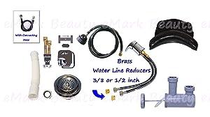 Shampoo Bowl Sink Plumbing Parts Salon Faucet Spa Large Neck Rest with Suction Sprayer Hose TLC-116KLS