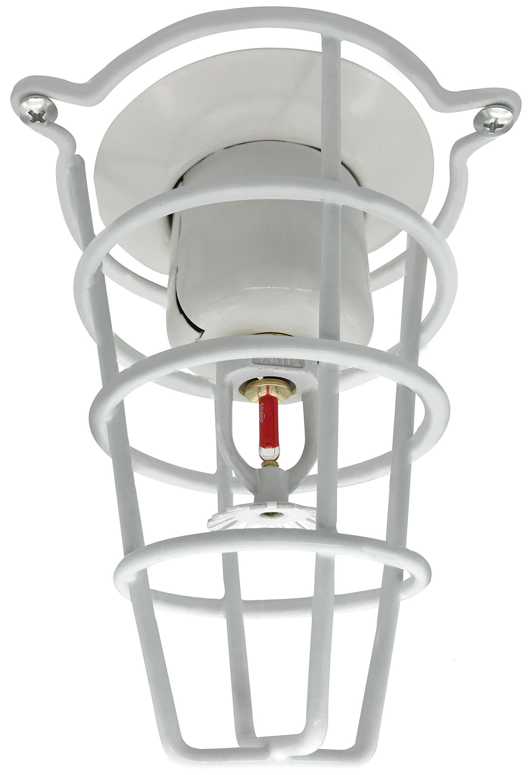 Happy Tree (2 Pack) White Fire Sprinkler Head Guard Cover for Both 1/2'' & 3/4'' Sprinkler Head 6'' Deep Cage
