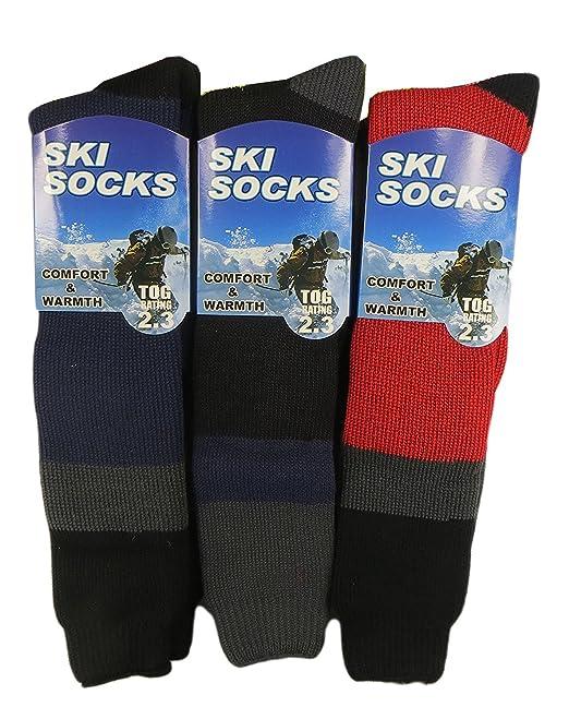 Ski Socks - Calcetines hasta la rodilla - para hombre multicolor Red, Black, Grey